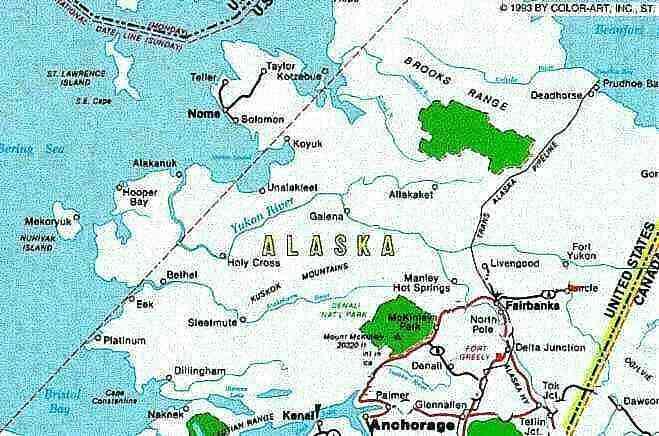 Polarkreis Alaska Karte.Alaska 99