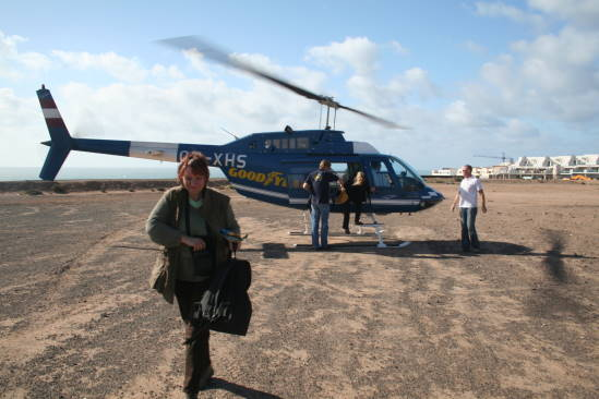I would like to rent a helicopters flight around Fuerteventura