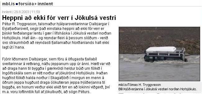 So kommt man in isländische Zeitungen ...