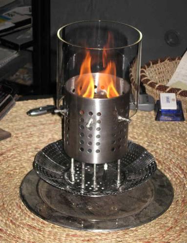 Feuer und stahl - Ofen im wintergarten ...